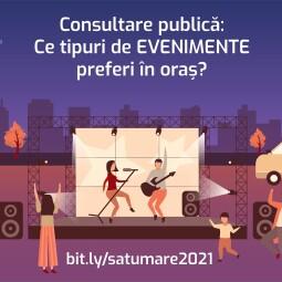 Consultare publică: Ce tipuri de EVENIMENTE preferi în oraș?